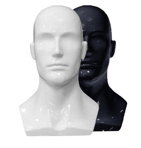 Голова мужская, глянцевая