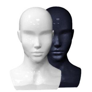 Голова женская, глянцевая
