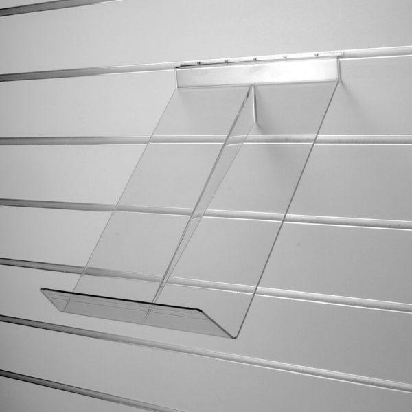 Полка универсальная наклонная, прозрачная - навеска на экономпанель