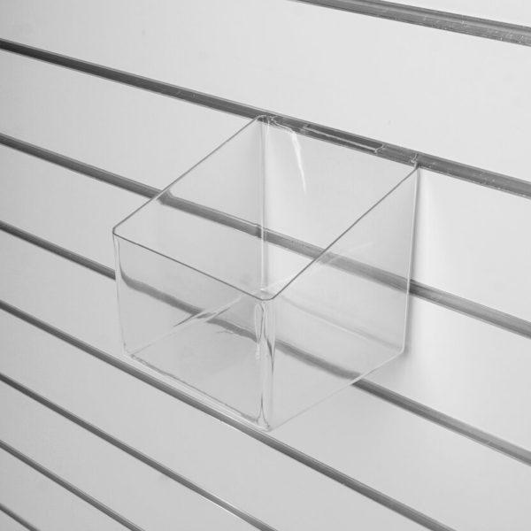 Полка-контейнер, прозрачная - навеска на экономпанель
