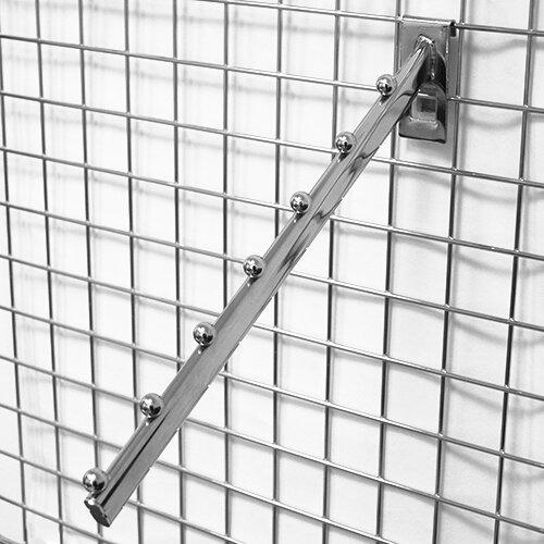 Торговое оборудование: решётки - Кронштейн наклонный 360 мм