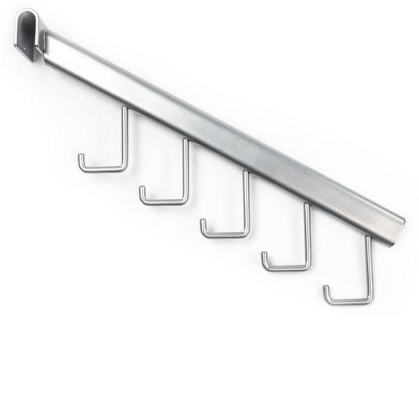 Кронштейн наклонный с 5-ю крючками - Системы перфорированный стоек для изготовления торгового оборудования Basis / Slim / PP / Light