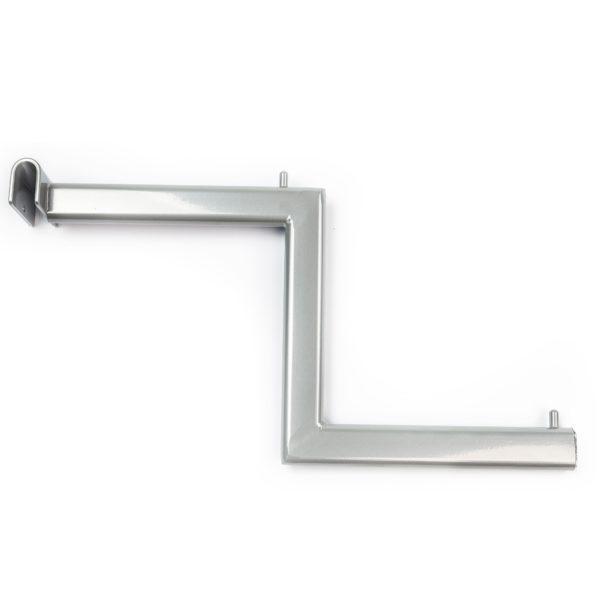Кронштейн двухуровневый - Системы перфорированный стоек для изготовления торгового оборудования Basis / Slim / PP / Light
