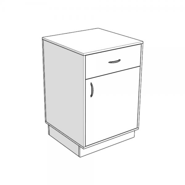 прилавок узкий 1 дверка 1 ящик