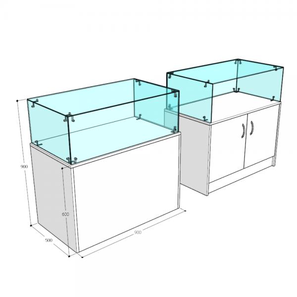 Прилавок-аквариум - С выставочной частью