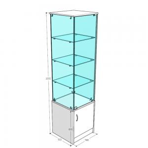 Прилавок-аквариум узкий высокий