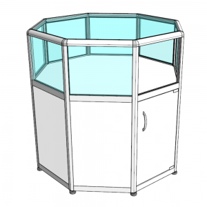 Прилавок-аквариум музейный восьмигранный