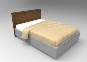 Визуализация кровати с изголовьем