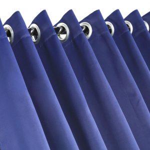 Синяя штора для примерочной